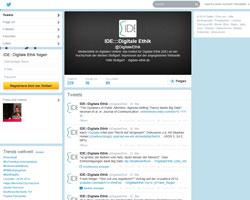 Der Twitter-Account des IDE; Quelle: Screenshot der Seite