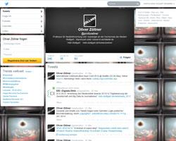 Der Twitter-Account von Prof. Dr. Oliver Zöllner: @profzoellner; Quelle: Screenshot der Seite