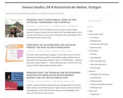 PR @ Hochschule der Medien: Das Webblog von Prof. Dr. Swaran Sandhu; Quelle: Screenshot der Seite