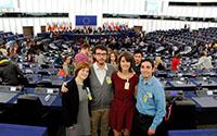 Mit anderen europäischen Jugendlichen drehte Thales Trench de Camargo den Abschlussfilm