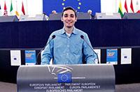 Thales im Europäischen Parlament in Straßburg.