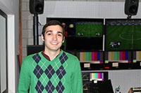 In der HdM arbeitet Thales gern in den Fernsehstudios.