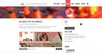 Ein übersichtliches Design soll junge Menschen ansprechen (Screenshot Achsensprung Blog)