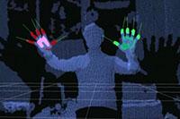 """Beim Projekt """"Kinect Control"""" werden Computerfunktionen über Sprache und Gestik gesteuert."""