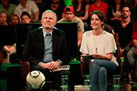 Botschafter und Autor Bernd Wulffen mit Moderatorin Laura Terberl