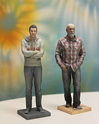 Die 3D-Figuren von den Jungunternehmern Heiko Weiß und Thilo Brückner