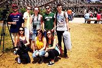 Das Team hat im Erlebnispark gedreht