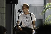 Christoph Bubeck sorgte für den musikalischen Rahmen