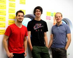 Die Köpfe hinter Swimp: Niklas Dorn, Maël Frize und Simon Kontschak, Foto: HdM