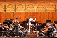 Das Orchester in der Stuttgarter Liederhalle