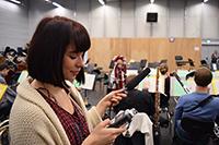 Für eine Reportage werden Töne der Orchesterprobe aufgezeichnet