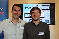 Die Gründer von pag.es: Veljko Sekelj (links) und David Maus, Foto: Sabine Bothner