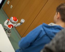 Bei den Medieninformatikern konnten die Nao-Roboter bestaunt werden.