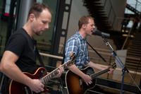 Für die Musik sorgten Christoph Bubeck (re.) und Wolfram Göz
