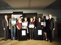 Die Preisträger mit ihren Qulitätszertifikaten