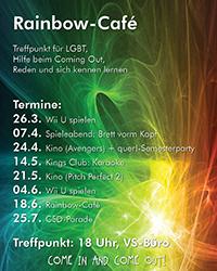 Das Programm des Rainbow-Cafés.
