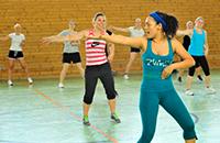 Zumba gehört zu den beliebtesten Sportkursen beim Hochschulsport. Foto: Hochschulsport