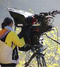 Das eigens konstruierte Kamera-Rig (hier bei Dreharbeiten an den Bärenseen in Stuttgart)