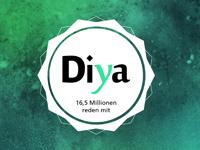 """Das Logo des Online-Magazins """"Diya""""."""