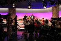 Wieland Backes begrüßt das Publikum beim Talkworkshop 2014 (Foto: imo)