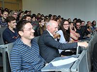 Im Publikum saß auch der ehemalige SWR Nachtcafé-Moderator Wieland Backes