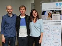 Die Nachwuchsmoderatoren Torsten Helber und Helene Reiner mit Pierre M. Krause. Fotos: Ann-Katrin Wieland