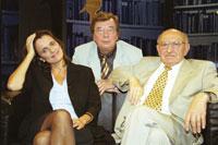 Iris Radisch, Hellmuth Karasek und Marcel Reich-Ranicki (v.l.). Foto: ZDF/Foto Sessner