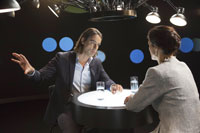 Richard David Precht im Gespräch mit  Sahra Wagenknecht. Foto: ZDF/Juliane Eirich