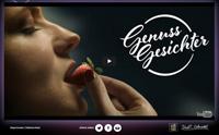 """So startet das interaktive Quiz zu """"Genussgesichter"""", Foto: Screenshot via www.genussgesichter.de"""