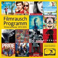 """Auf einen Blick: das """"Filmrausch""""-Programm im Wintersemester 2015/16."""