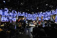 Aufzeichnungsort für die Abschlussproduktion war das Sport-im-Dritten Studio beim SWR in Stuttgart (Fotos: imo)
