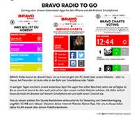 Demnächst soll das Radio auch als App verfügbar sein. Screenshot Bravo.de