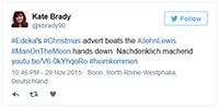 Die Alterseinsamkeit in den Spots von John Lewis und EDEKA sorgen für viel Gesprächsstoff in den sozialen Medien. Screenshot: Twitter