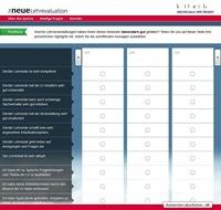Screenshot des Evaluations-Tools der HdM.