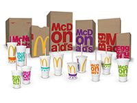 Das neue Verpackungsdesign von McDonald's: Modern, jung und gewagt. Abbildung: McDonalds