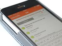 Haltestelle Schranne (Hochschule der Medien) ist bereits in der VVS App zu finden. Foto: Kledig