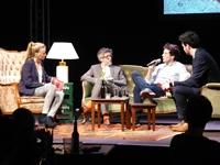 Zu Gast waren auch Prof. Dr. Tobias Keber von der HdM (mittig, links) und der Journalist Bastian Brauns (mittig, rechts). Fotos: Alexandra Seidel.