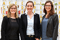 Das Team: Diana Madeheim, Maria Bertele und Kathrin Scherzer (von links, Foto: Magdalena Weinle)