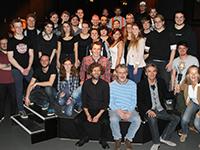 """Die Organisatoren und Künstler der Musikshow """"Soundcheck"""", Foto: Marleen Kledig"""
