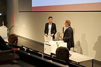 Benjamin Discher (links) mit Prof. Harlad Eichsteller