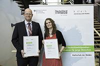 Jens Behrens vom Stifter T.V. Grafia mit Nadine Bruer