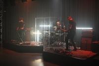 Die Band Eau Rouge beim 3D-Konzert an der HdM.