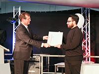 Saeed Kakavand erhielt den Sozialpreis für herausragendes Engagement, Foto: Mitra Schmidt