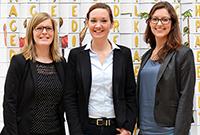 Das Team des Weiterbildungszentrums: Diana Madeheim, Maria Bertele und Kathrin Scherzer (von links, Foto: Magdalena Weinle)