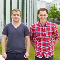Marc Walter (links) und Moritz Plingen bereuen ihren Studiengangwechsel nicht. Foto: Joelle Mittnacht