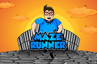 """Der """"mazeRunner"""" führt Studenten durch Räume der Vertiefungsrichtung Digital Publishing"""
