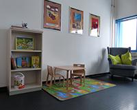 """Liebevoll eingerichtet: Das neue """"Kinderzimmer"""" an der HdM. Foto: Alexandra Rambacher"""