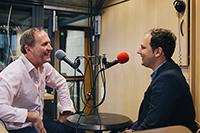 Tom Hörner und David Rau (rechts) im Studio (Fotos: Lichtgut/Verena Ecker)