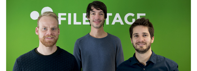 Die Gründer Simon Kontschak, Maël Frize und Niklas Dorn (von links), Bild: Filestage