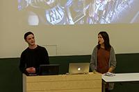 Die norwegischen Gäste werben für ihre Hochschule